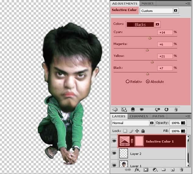 vector screen: Cara Mengubah Foto Digital Mejadi karikatur