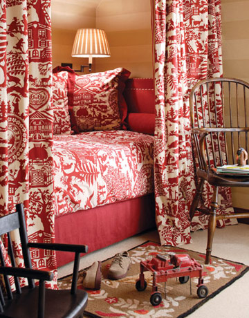red dining room | Enchanted Blog