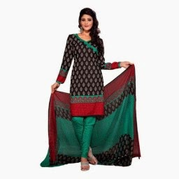 Buy Fabdeal Smart American Crepe Printed Dress Material + Extra Rs.200 off at giftease  Rs.399