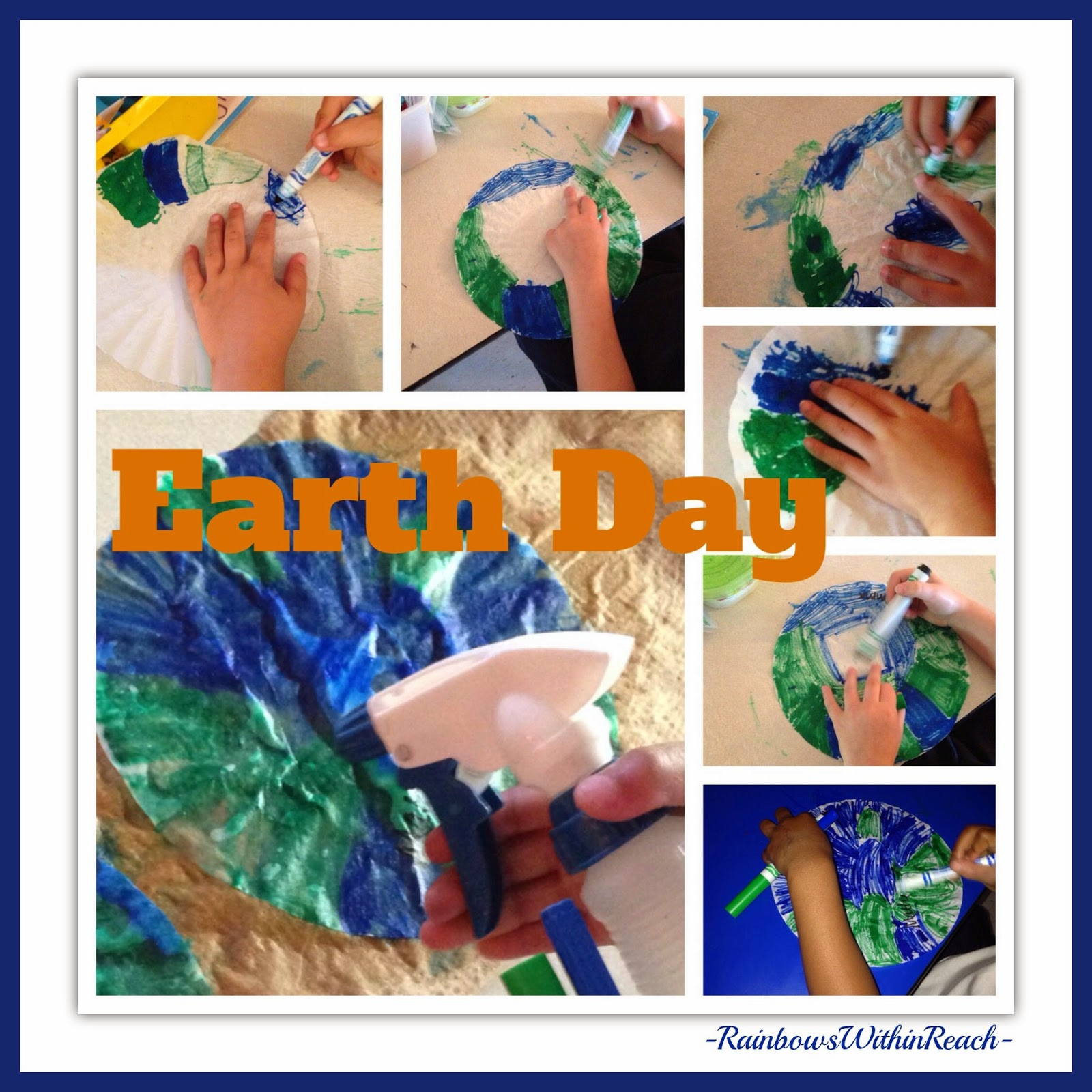 Earth Day: Process Art with markers and Spray! via RainbowsWithinReach