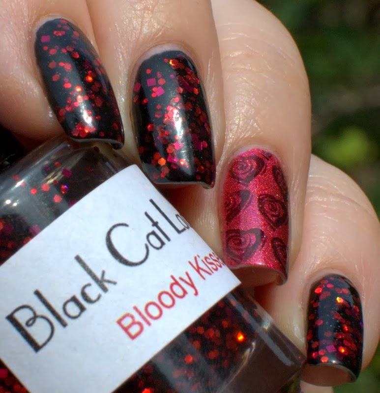 Black Cat Lacquer Bloody Kisses and Picture Polish Scarlett