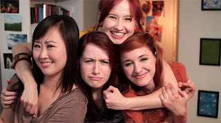 the lizzie bennet diaries - charlotte, lizzie, lydia and jane