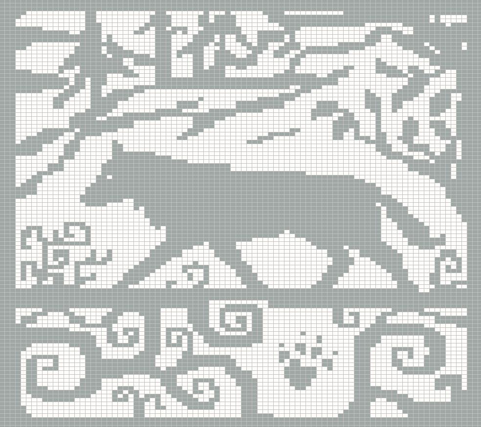 Knitting Pattern Chart No Stitch : WitchWolfWeb Creations: Spirit Wolf Chart Version 2