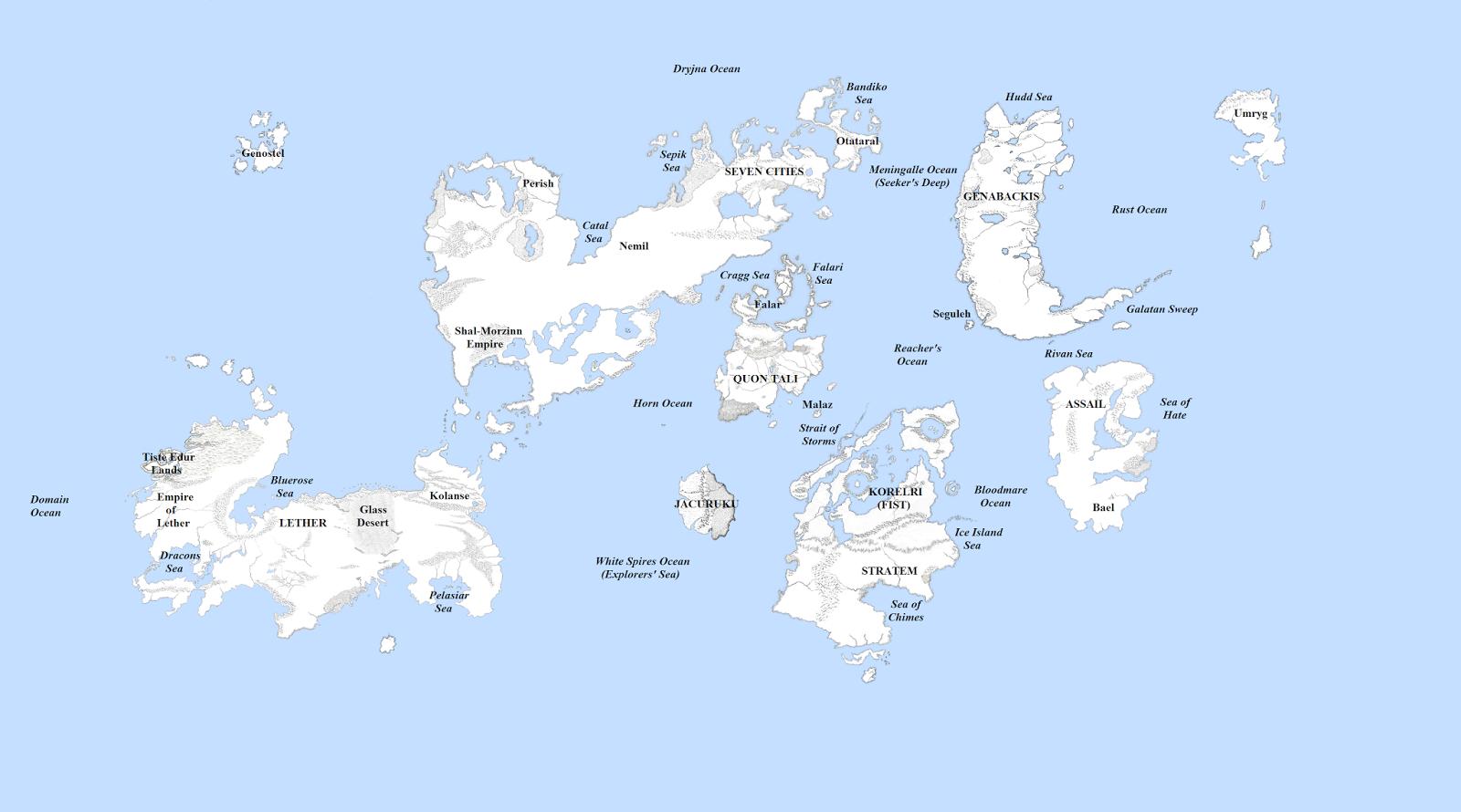 The Wertzone Updated Malazan World Map
