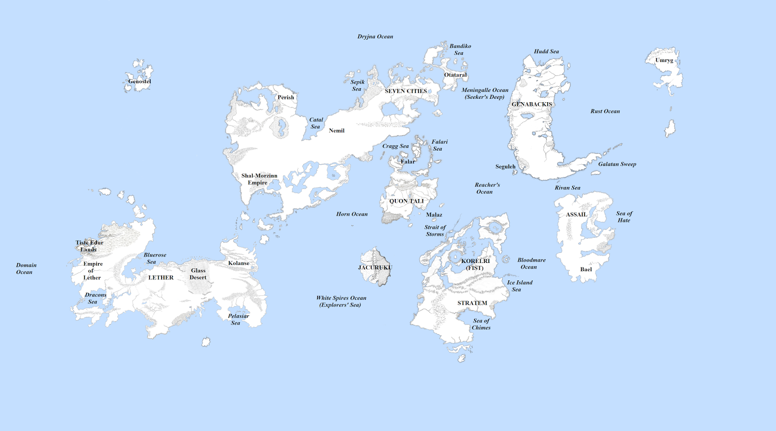 The wertzone updated malazan world map