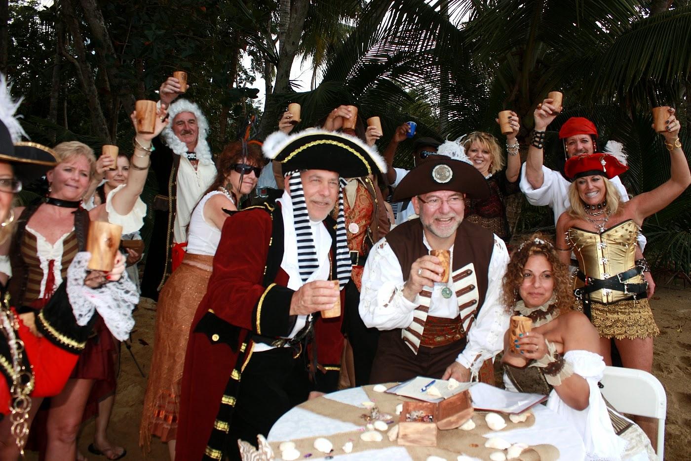 Real Destination Weddings: Pirate wedding at Englishman\'s Bay Tobago