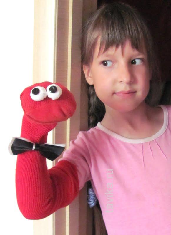 кукла марионетка из носка своими руками