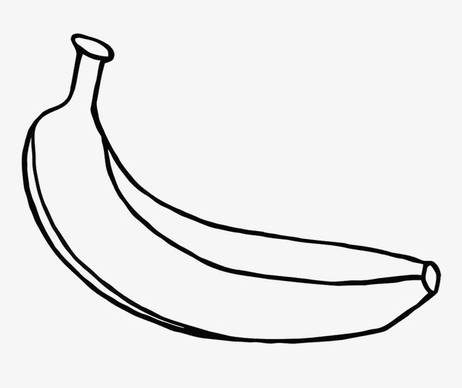 Gambar mewarnai buah pisang untuk anak