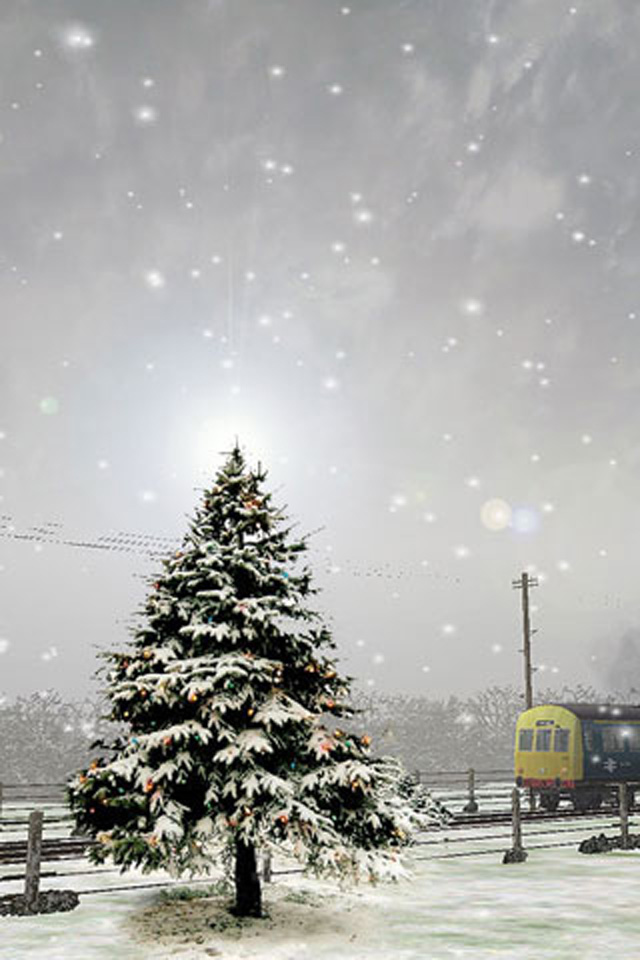 Winter tree iphone wallpaper iphones ipod touch - Free winter wallpaper for phone ...
