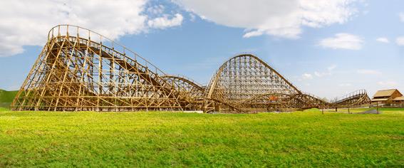 Holzachterbahn Mammut Panorama