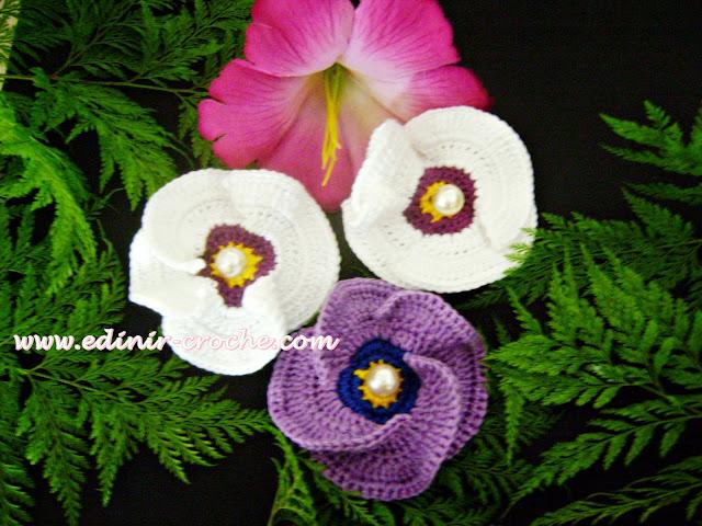 flores papoulas em croche dvd frete gratis edinir-croche