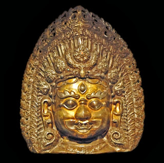 Trilochana, the three-eyed Shiva; North Indian mask