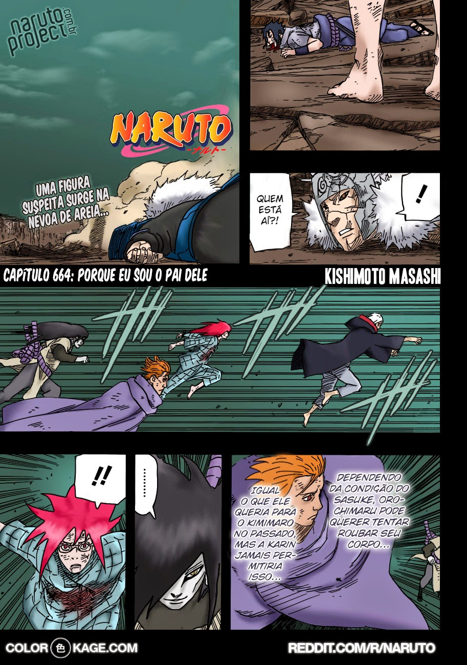 Naruto 664 Mangá Colorido