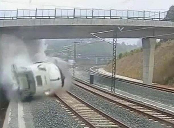 Train accident in spain