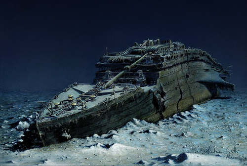 titanic ship underwater - photo #11