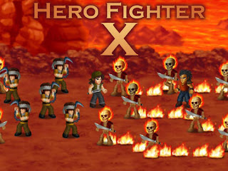 Screenshots of the Hero fighter X for Android tablet, phone.