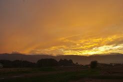高原も秋の夕陽