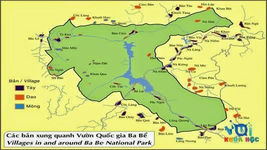 Bản đồ Hồ Ba bể