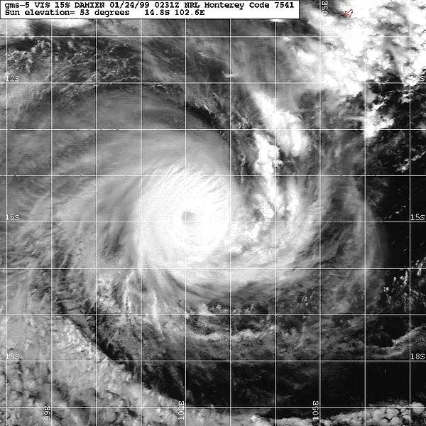 Image satellite de la tempête tropicale Birenda