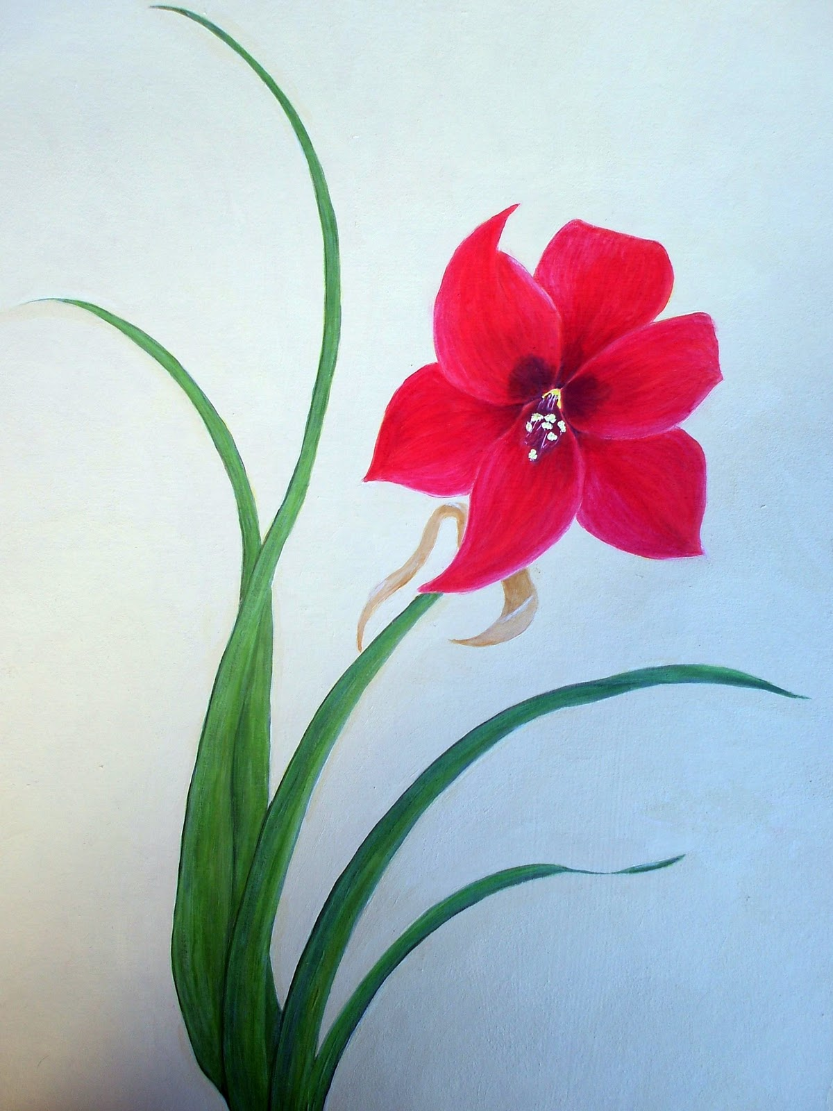 Easy flower paintings for beginners the for Simple flower paintings for beginners
