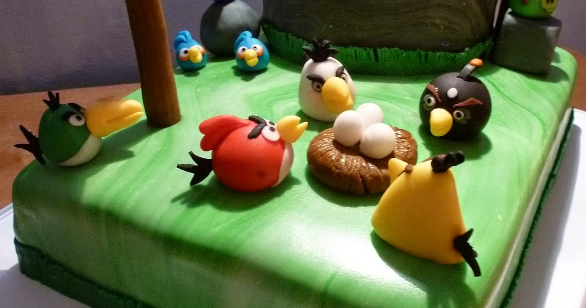 Vie sucre passion g teau angry birds - Angry birds noel ...
