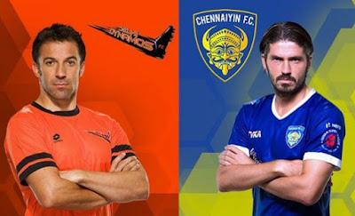 ISL 2017 Match 6; Delhi Dynamos Vs Chennaiyin FC Live