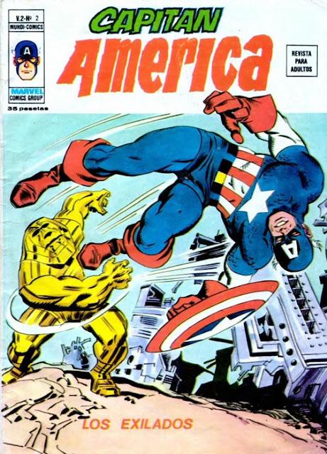 Portada de Capitán América Volumen 3 Nº 2 Ediciones Vértice