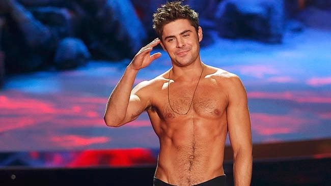 Zac Efron Shirtless Abs