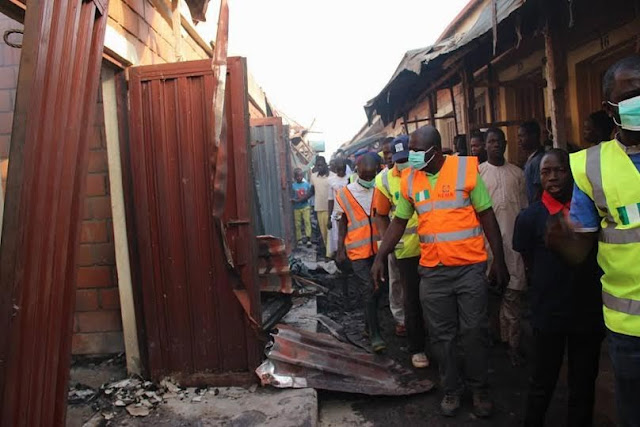 Sad: Millions Of Naira Lost As Fire Guts Minna Market Today (Photos)