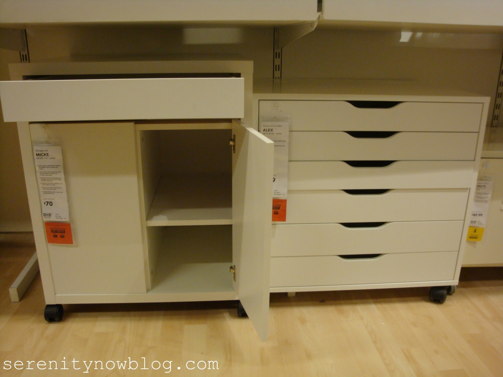 lots of nice little carts and drawer units to fit underneath your