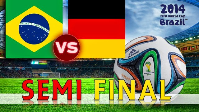 Brazil vs. Germany live 2014 FIFA WORLD CUP Semi-finals