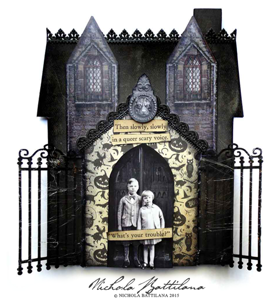 Altered Art Haunted Houses - Nichola Battilana