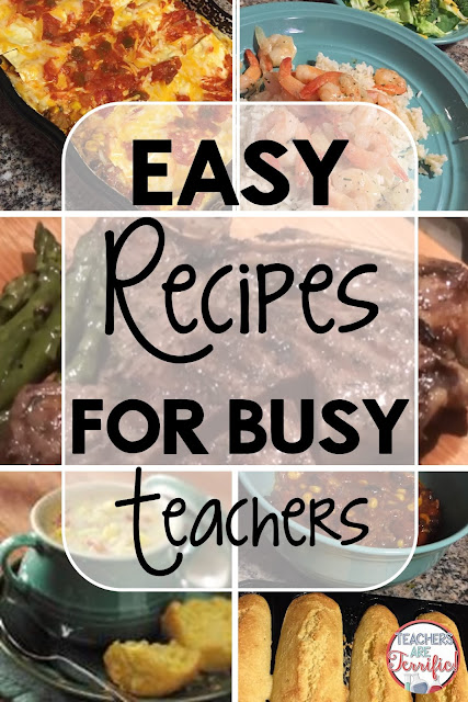 Easy Chicken and crockpot recipes! You will find several great recipes with simple ingredients and quick prep on this post! Great for busy teachers!
