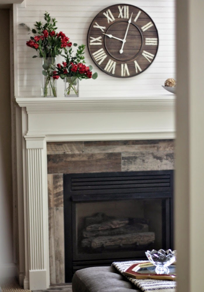 basement fireplace makeover