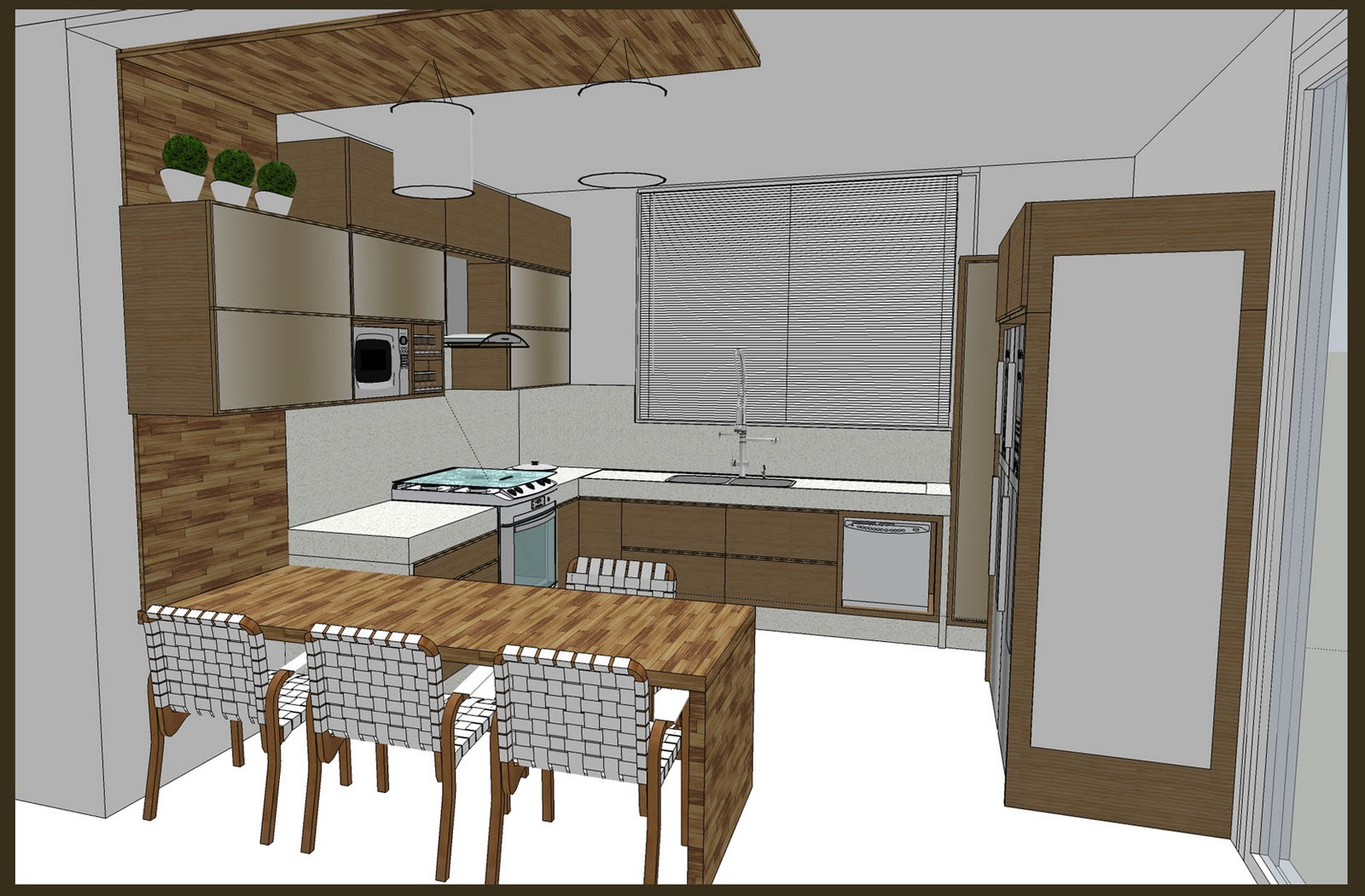 #624C32 Cozinha tradicional armários para maior aproveitamento do espaço  1600x1051 px Armario De Cozinha Compacto Mdf #2009 imagens