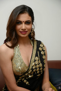 Simran Kaur Mundi Spicy Pictures in lovely Blouse and Saree