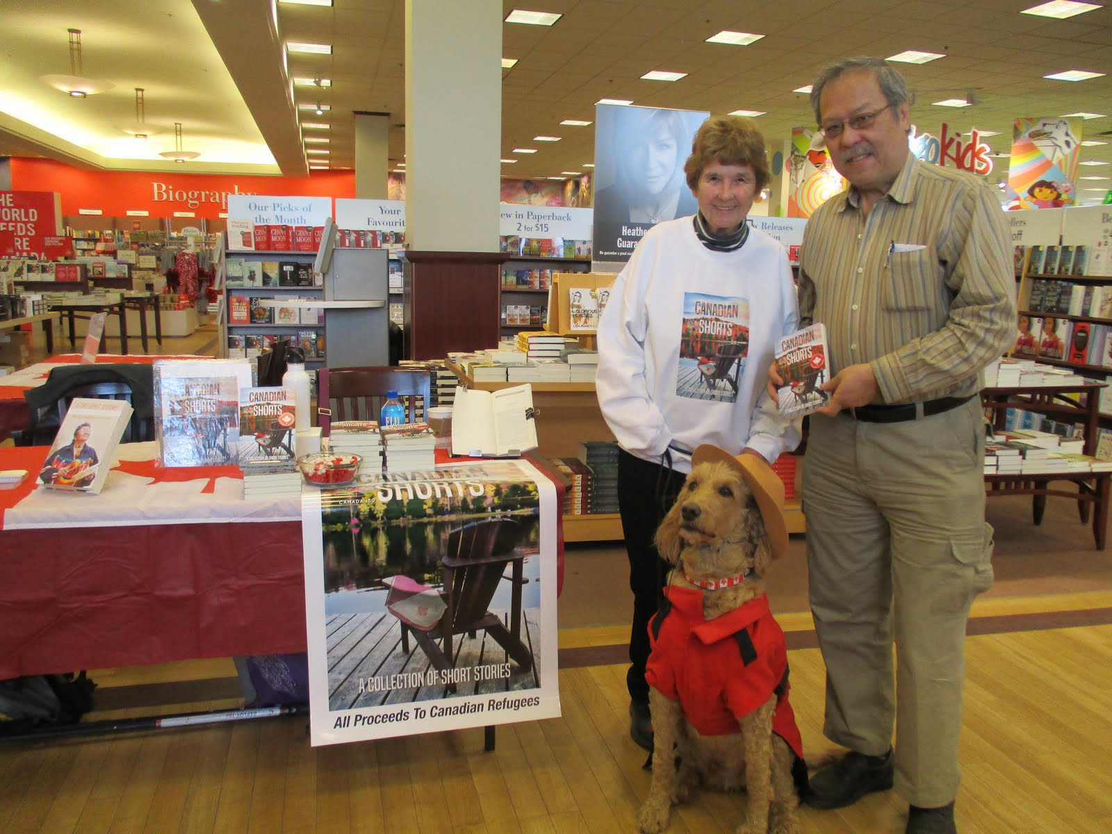 Elvis the Mountie Dog Steals the Show at the Book Signing