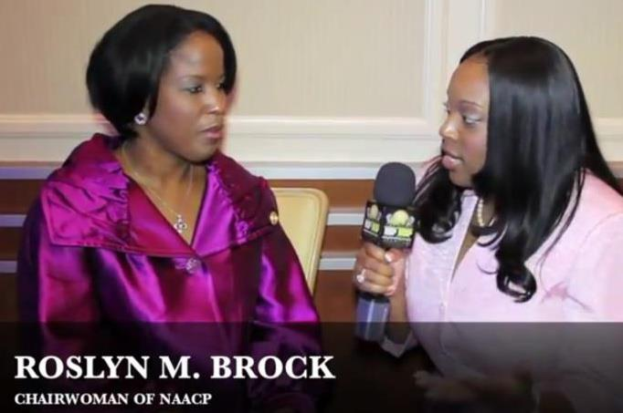 Natascha Interviewing NAACP Chair Roslyn Brock