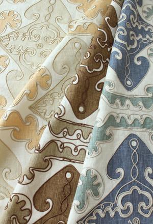 Suzanne Tucker fabrics in linen
