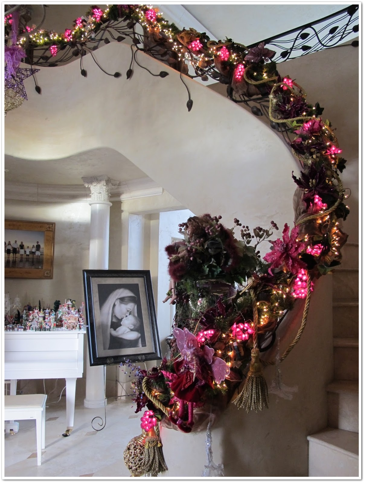 Winter wonderland for my banister purple chocolat home for Decoration 3 chocolat