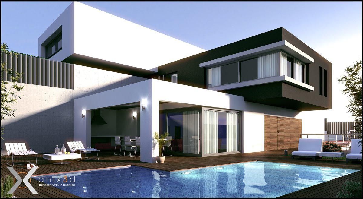 Arquitectura sobre espacios interiores y exteriores urbanos for Casa moderna 4 ambientes