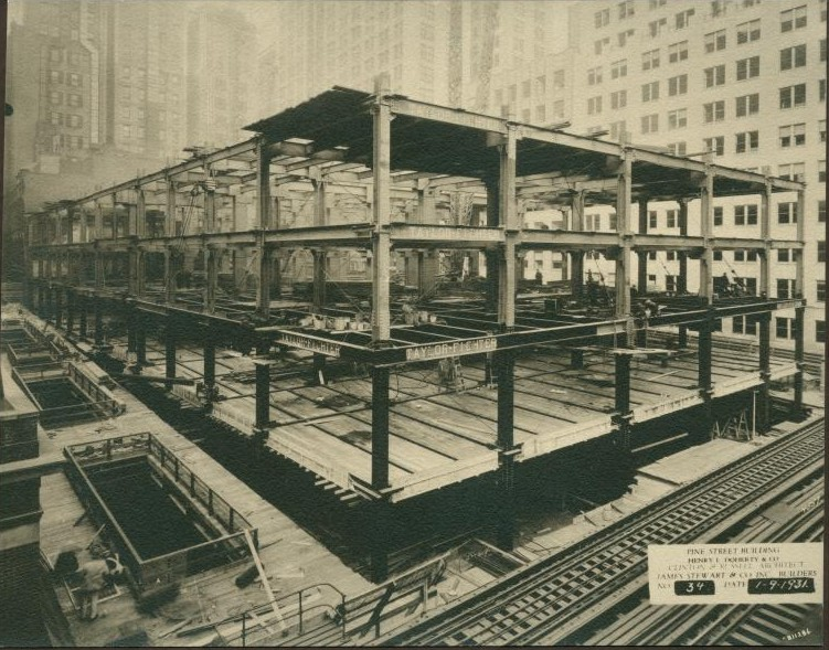 New york history geschichte first pictures of a new for House under construction insurance