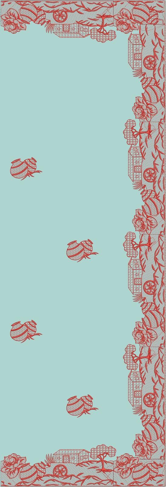 Butterfly Saree Pallu Embroidery Design  Embdesigntube