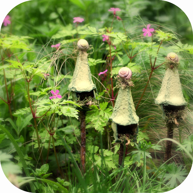 Fairy Houses - DIY Egg Carton Fairy Bird-Houses