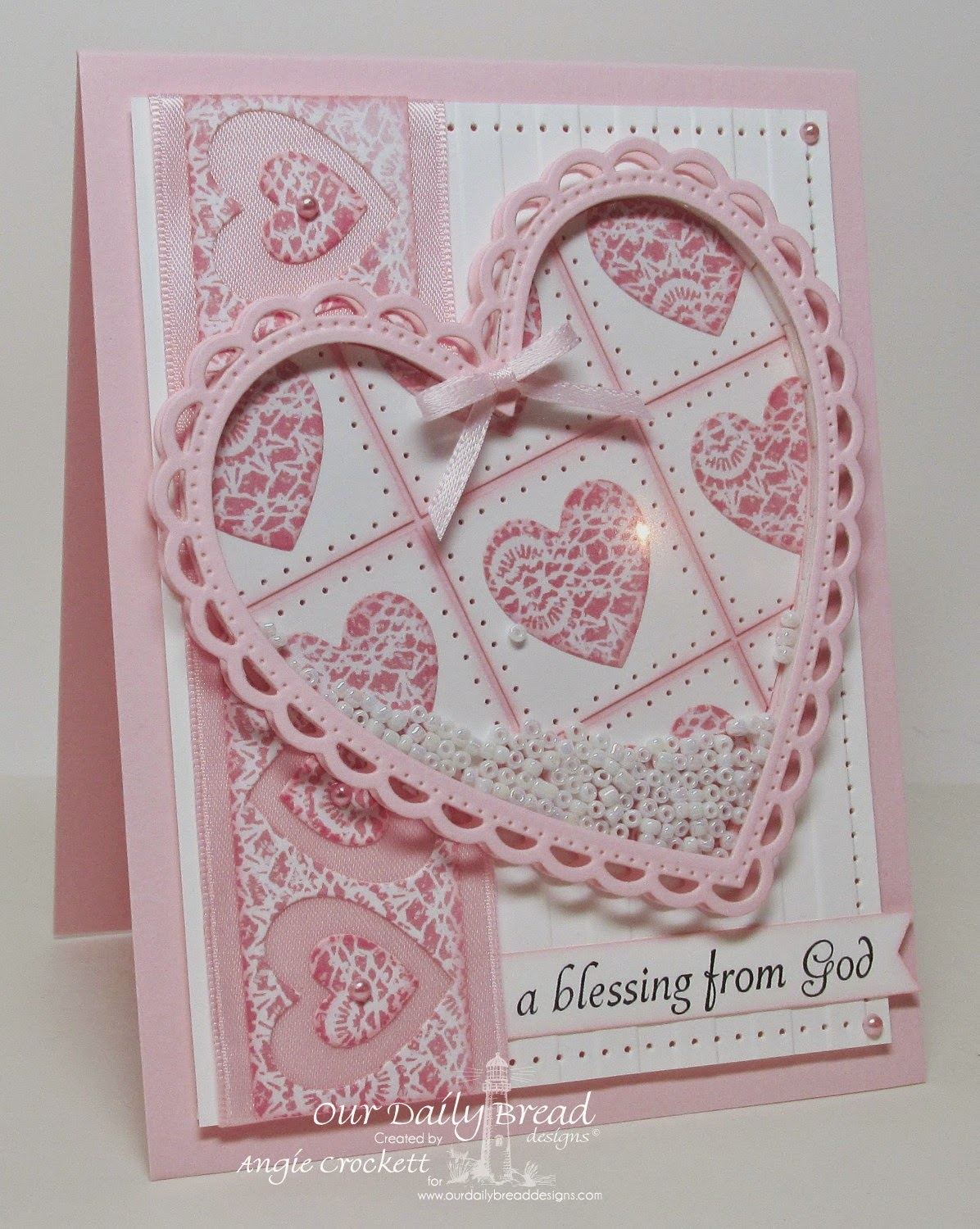ODBD Little Girls, ODBD Ornate Hearts Dies, ODBD Heart and Soul Designer Paper Collection, Card Designer Angie Crockett