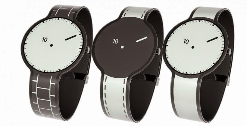 FES Watch ساعة ذكية من سوني مصنوعة من الحبر الإلكتروني