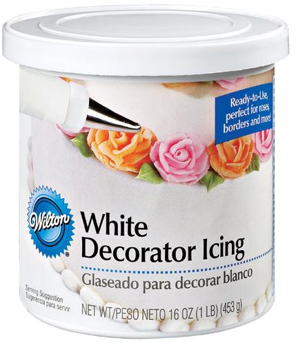 ... decorarlos, utilicé el glaseado de Wilton - White Decorator Icing