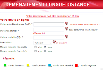 Le prix du d m nagement calcul du co t - Estimation volume demenagement en ligne ...