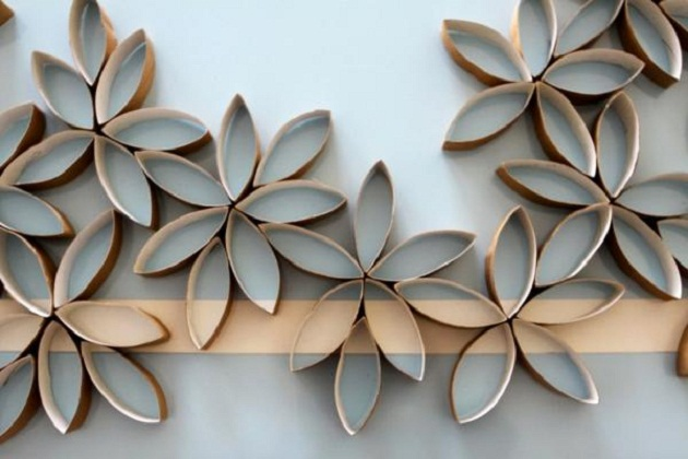 Creative Wall Art Decor Using Second Hand Papers