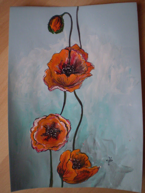 Poppies PA7, watercolor, signed Joli, A4